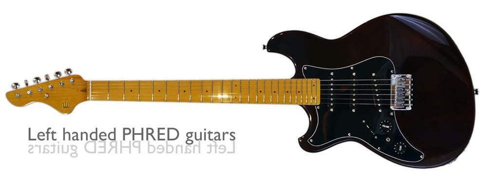 Left Handed guitars by PHRED instruments